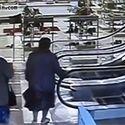 Ruskie babcie na schodach ruchomych