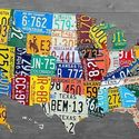 USA in license plate