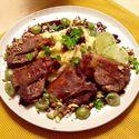 Comber jagnięcy z balsamicznym sosem miodowo-agrestowym, puree ziemniaczanym, pistacjami i kolendrą <3