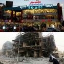 Przed i po eksplozji samochodu pułapki, Bagdad