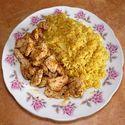 Ryż curry z kurczakiem +sos łagodny