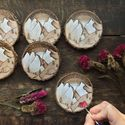 Tiny Paintings on Recycled Wood