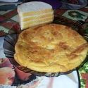 Omlet z serem na słodko na grubym cieście