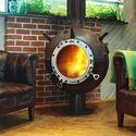 kominek zrobiony z miny morskiej