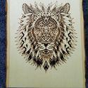 Lion mandala Pirografia